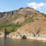 Гледка към крепост Монек от въжен мост Лисиците