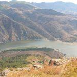 Гледка към въжен мост Лисиците от крепост Моняк