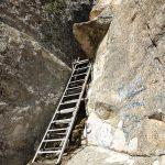 Стълба пред пещера Утробата